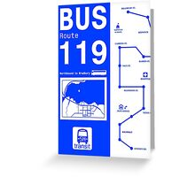 Bus Route for Silent Hill  Greeting Card