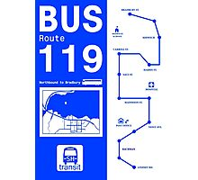 Bus Route for Silent Hill  Photographic Print