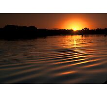Sunset over Hastings River Photographic Print