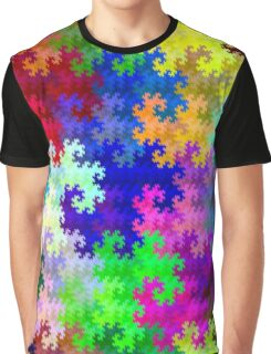 Psychedelic Rainbow Dragon Fractal Pattern Graphic T-Shirt