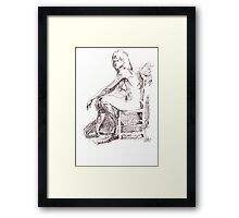 Sitting Nude Framed Print