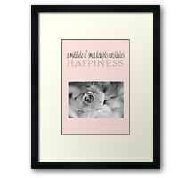 Happiness Pink © Vicki Ferrari Photography Framed Print