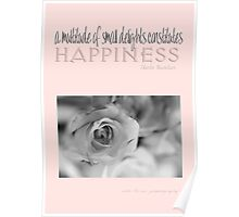 Happiness Pink © Vicki Ferrari Photography Poster