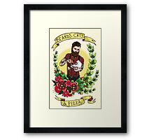 Beards, Cats, and Pizza Framed Print