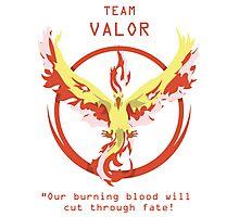 Team Valor Slogan T Photographic Print