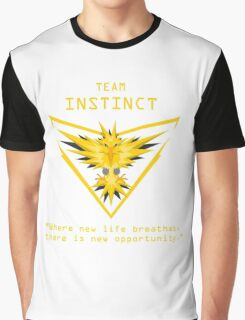 Team Instinct Slogan T Graphic T-Shirt