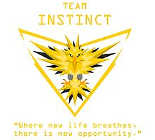 Team Instinct Slogan T Photographic Print