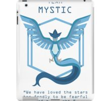 Team Mystic Slogan T iPad Case/Skin