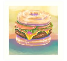 The Donut Burger Art Print
