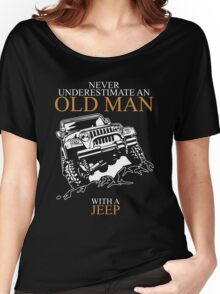 Never Underestimate An Old Man Jeep T-shirts Women's Relaxed Fit T-Shirt