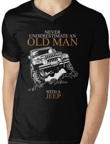 Never Underestimate An Old Man Jeep T-shirts Mens V-Neck T-Shirt