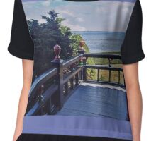 A View of the Atlantic Ocean Chiffon Top
