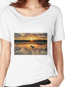 Boats at sunset Women's Relaxed Fit T-Shirt