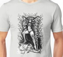 HORNS N HEELS (BLACK & WHITE) Unisex T-Shirt