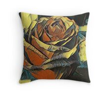 Romantic Masters Painted Rose Throw Pillow