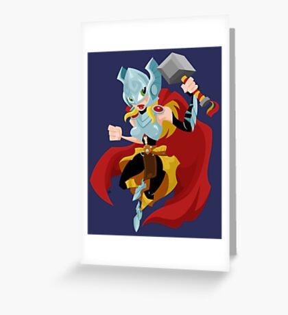 She Thor Greeting Card
