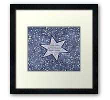 star haiku Framed Print