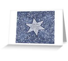 star haiku Greeting Card