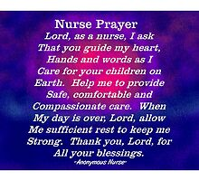 Nurse Prayer by Gail Gabel, LLC