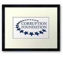 CORRUPTION FOUNDATION Framed Print