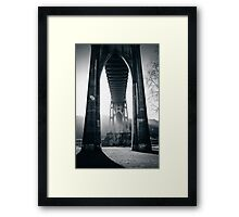 Under St. John's Bridge Framed Print