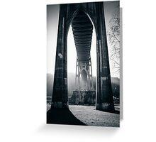Under St. John's Bridge Greeting Card