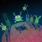planet of green bunnies by Marianna Tankelevich