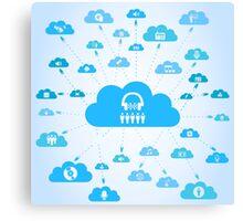 Music a cloud Canvas Print