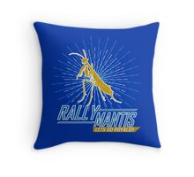Rally Mantis Burst! Throw Pillow