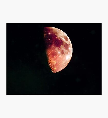 RED SIDE OF THE MOON Photographic Print