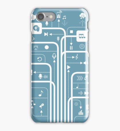 Music a line iPhone Case/Skin