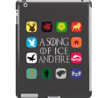 Westeros Noble Houses - A Song of Ice and Fire iPad Case/Skin