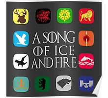 Westeros Noble Houses - A Song of Ice and Fire Poster