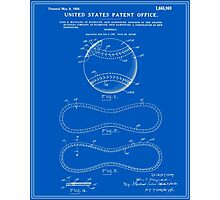 Baseball Patent - Blueprint Photographic Print