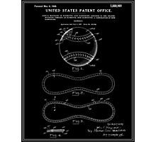 Baseball Patent - Black Photographic Print