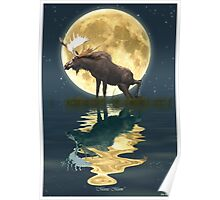 Moose Moon Poster