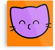 Kawaii Kitty Cats 2048 - tile 64 Metal Print