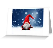 Cute Christmas Santa Snow Stars Greeting Card