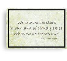 Cloudy Sky Star haiku Poster Canvas Print