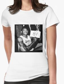 Kobe Bryant - 81 points Womens Fitted T-Shirt