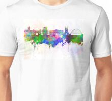 Reading skyline in watercolor background Unisex T-Shirt