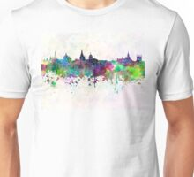 Oxford skyline in watercolor background Unisex T-Shirt