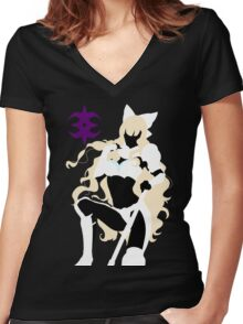 Fire Emblem - Charlotte Silhouette Women's Fitted V-Neck T-Shirt