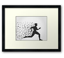 Music run Framed Print