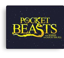 Pocket Beasts Canvas Print