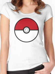 pokemon ball funny Women's Fitted Scoop T-Shirt