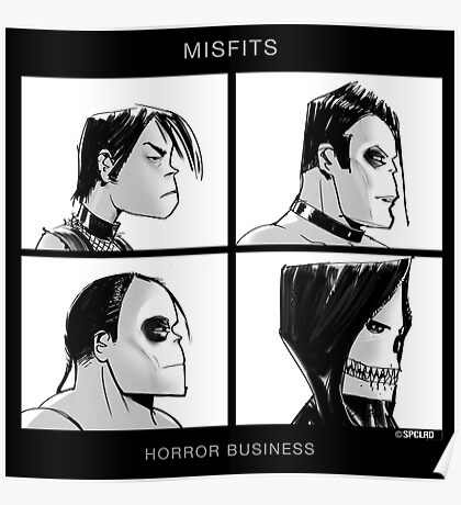 The Misfits in Gorillaz Style Poster
