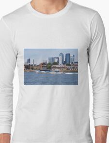 Thames Clippers at Thames Greenwich London Long Sleeve T-Shirt