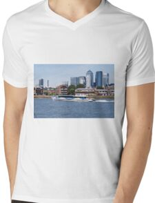 Thames Clippers at Thames Greenwich London Mens V-Neck T-Shirt