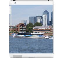 Thames Clippers at Thames Greenwich London iPad Case/Skin
